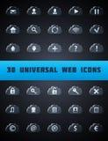 Universella molnrengöringsduksymboler. Royaltyfri Fotografi