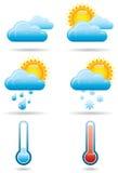 Universella vädersymboler B Royaltyfri Bild