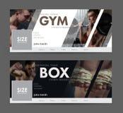 Universellt advertizingmallbaner för sociala nätverk Fotografering för Bildbyråer