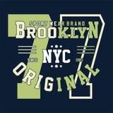 Universidad Brooklyn del alfabeto y de los números del diseño libre illustration