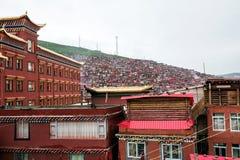 Universidad budista en Sichuan, China foto de archivo