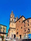 2: Universidad and Casa de las Conchas in Salamanca, Spain. SALAMANCA, SPAIN - JULY 13, 2012: Universidad and Casa de las Conchas in Salamanca, Spain. People stock photos