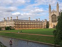 Universidad de Cambridge, College de rey foto de archivo