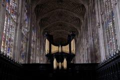 Universidad de Cambridge de la universidad de los reyes del coro Fotografía de archivo libre de regalías