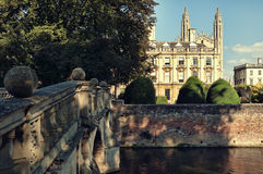 Universidad de Clare, Cambridge Foto de archivo