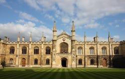Universidad de Corpus Christi en Cambridge Fotos de archivo libres de regalías