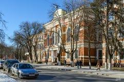 Universidad de estado Belorussian del transporte, Gomel, Bielorrusia Foto de archivo