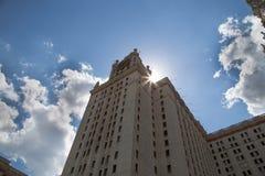 Universidad de estado de Lomonosov Moscú, edificio principal, Rusia Foto de archivo libre de regalías