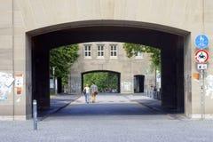 Universidad de la entrada de Maguncia Imagen de archivo libre de regalías