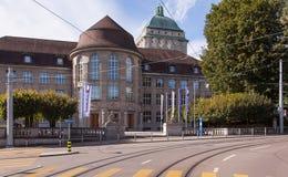 Universidad de la entrada de Zurich Imagen de archivo