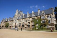 Universidad de la iglesia de Cristo en la Universidad de Oxford Imágenes de archivo libres de regalías