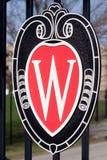 Universidad de la insignia de Wisconsin Madison Imagen de archivo