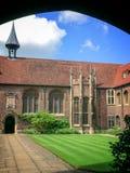 Universidad de la universidad del ` s de la reina de Cambridge, en Cambridge Reino Unido Fotos de archivo libres de regalías