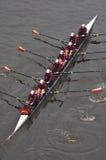 Universidad de las personas del Rowing de Minnesota de arriba Imágenes de archivo libres de regalías