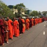Universidad de los monjes budistas de Sri Lanka imagen de archivo libre de regalías
