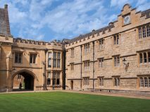 Universidad de Merton de la Universidad de Oxford Foto de archivo libre de regalías