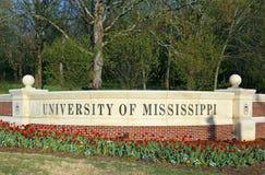 Universidad de Mississippi Foto de archivo libre de regalías