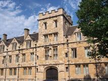 Universidad de Oxford, Inglaterra Fotografía de archivo