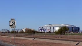 Universidad de Phoenix Stadium cardinal, AZ Imágenes de archivo libres de regalías