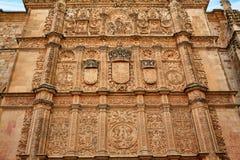 Universidad de Salamanca University Spain. Universidad de Salamanca University facade in Spain stock photo