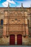 Universidad de Salamanca University Spain. Universidad de Salamanca University facade in Spain royalty free stock image
