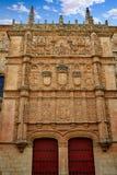 Universidad de Salamanca University Spain. Universidad de Salamanca University facade in Spain royalty free stock photos
