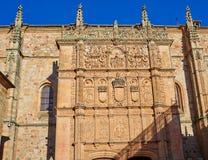 Universidad de Salamanca University Spain. Universidad de Salamanca University facade in Spain royalty free stock photo