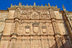 Universidad de Salamanca University Spain. Universidad de Salamanca University facade in Spain royalty free stock images