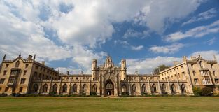 Universidad de San Juan. Cambridge. Reino Unido. Fotografía de archivo libre de regalías