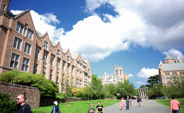 Universidad de Seattle de Washington Foto de archivo