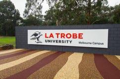 Universidad de Trobe del La en Melbourne Australia Foto de archivo libre de regalías