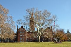 Universidad de Wells situada en Aurora New York imagen de archivo