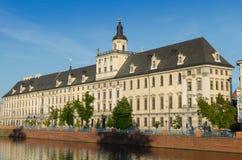Universidad de Wroclaw Imagen de archivo libre de regalías