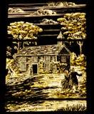 Universidad de Yale de la iglesia del vidrio manchado de Bonawit Fotografía de archivo libre de regalías