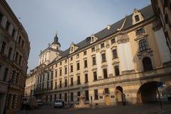 Universidad del 'aw de WrocÅ en Polonia Foto de archivo