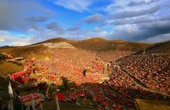 Universidad del buddhism de Seda Larong Wuming Imagen de archivo