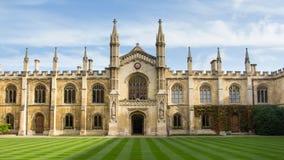 Universidad del Corpus Christi en Cambridge Reino Unido Fotografía de archivo libre de regalías