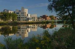 Universidad del edificio icónico de Iowa Fotografía de archivo libre de regalías