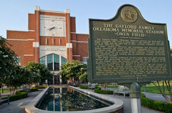 Universidad del estadio de fútbol de Oklahoma Foto de archivo libre de regalías