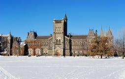 Universidad en invierno Foto de archivo