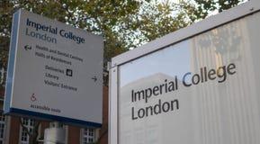 Universidad imperial Londres Kensington Imagenes de archivo