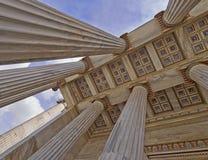 Universidad nacional de Atenas Grecia, techo de la entrada fotos de archivo libres de regalías