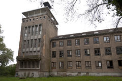 Universidad naval abandonada en Wustrow Imagen de archivo libre de regalías