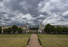 Universidad naval real vieja del parque de Greenwich imágenes de archivo libres de regalías