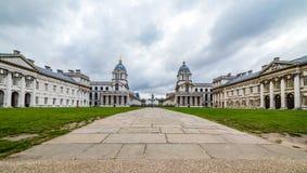 Universidad naval real vieja, Greenwich Foto de archivo libre de regalías