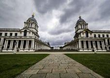 Universidad naval real vieja, Greenwich Fotos de archivo