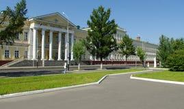 Universidad. Omsk.Russia del cadete. Fotografía de archivo