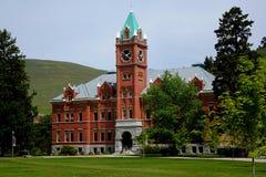 Universidad Pasillo en Montana desde 1898 foto de archivo libre de regalías