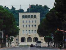 Universidad politécnica de Tirana fotografía de archivo libre de regalías
