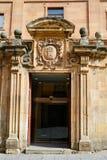 Universidad Pontificia university in Salamanca. Of Spain royalty free stock image